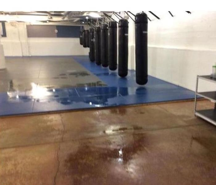 Water Damage at a local business  Before